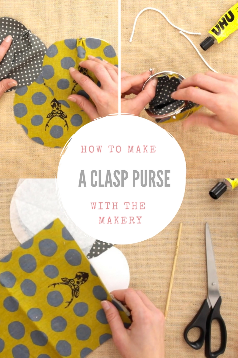 How to make a clasp purse. Click through to discover how to make a cute fabric clasp purse with The Makery