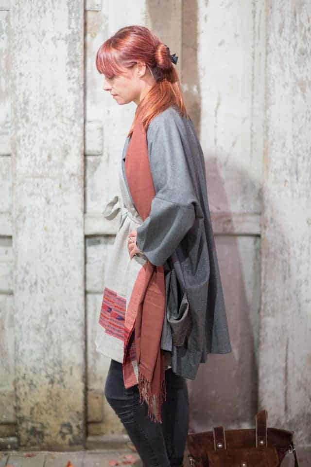 love this beautiful wool kaftan and kimono coat from warp and weft hastings