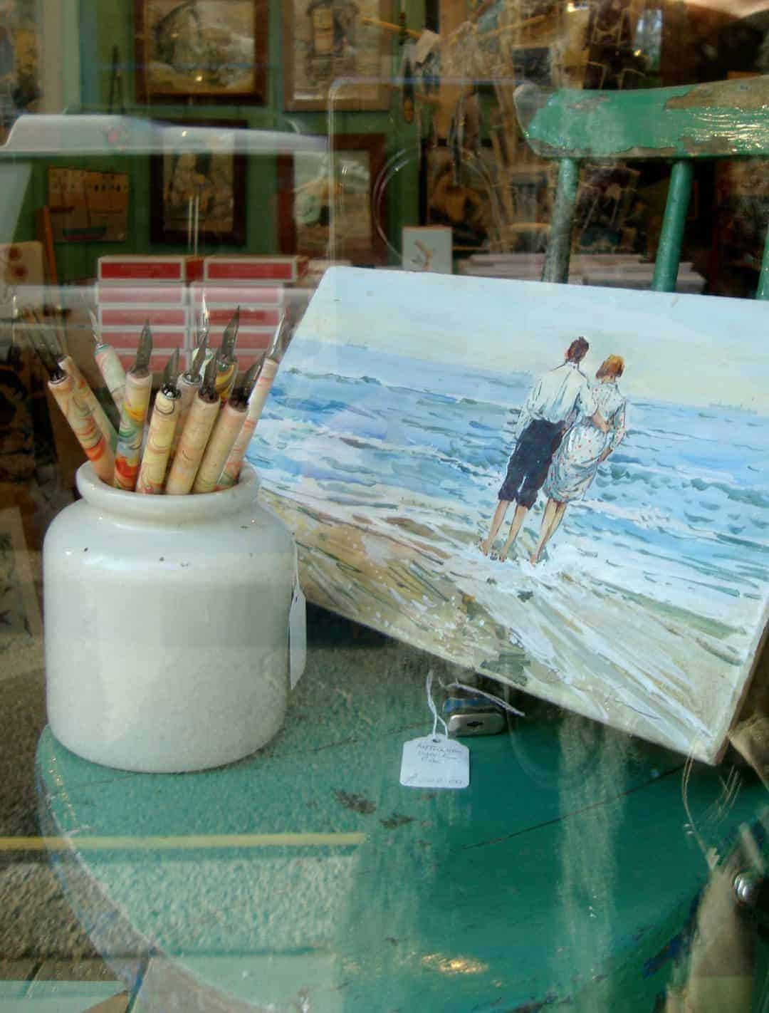 love this vintage style beach painting at made in hastings beach painting