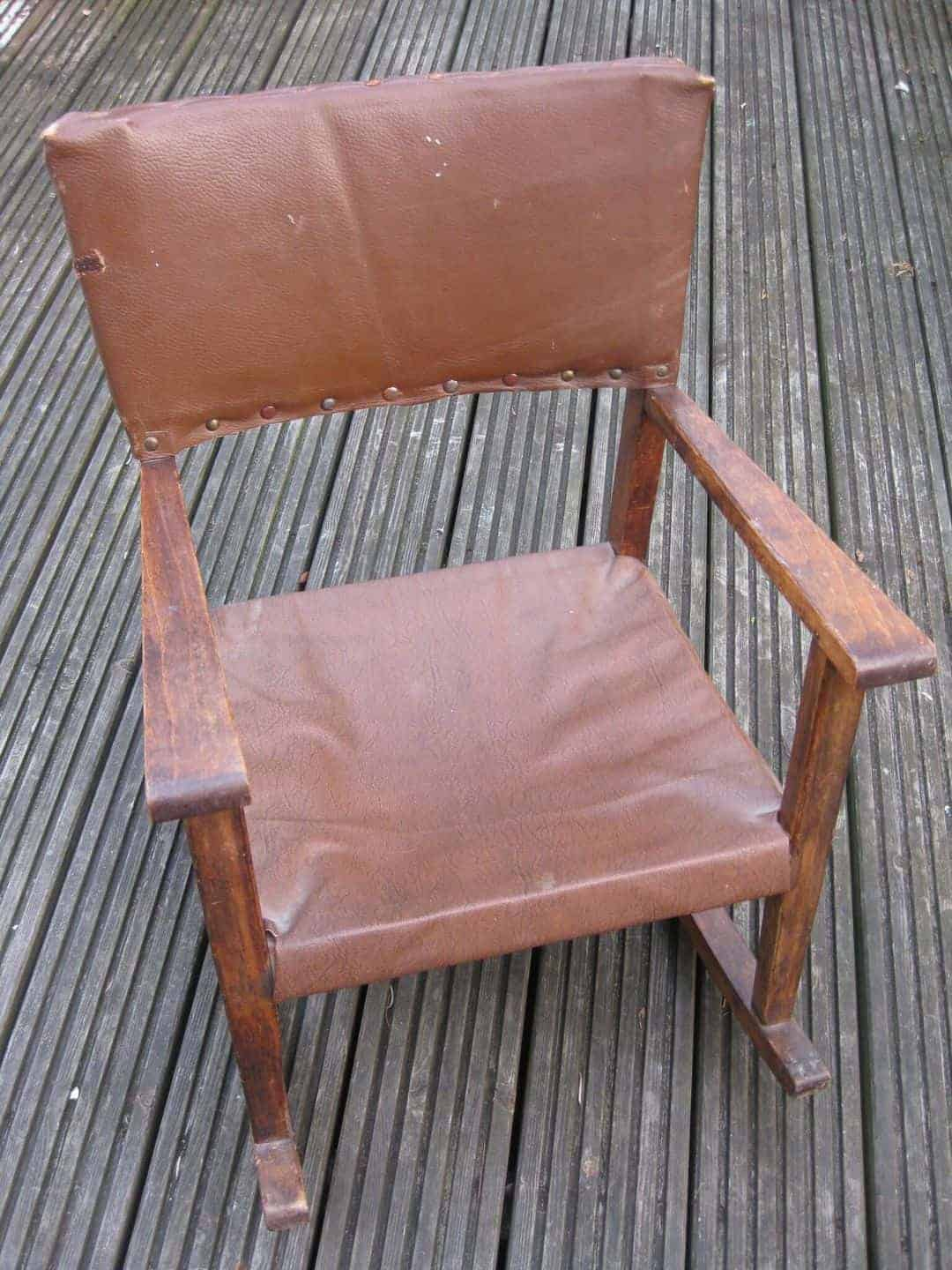 how to upholster a rocking chair