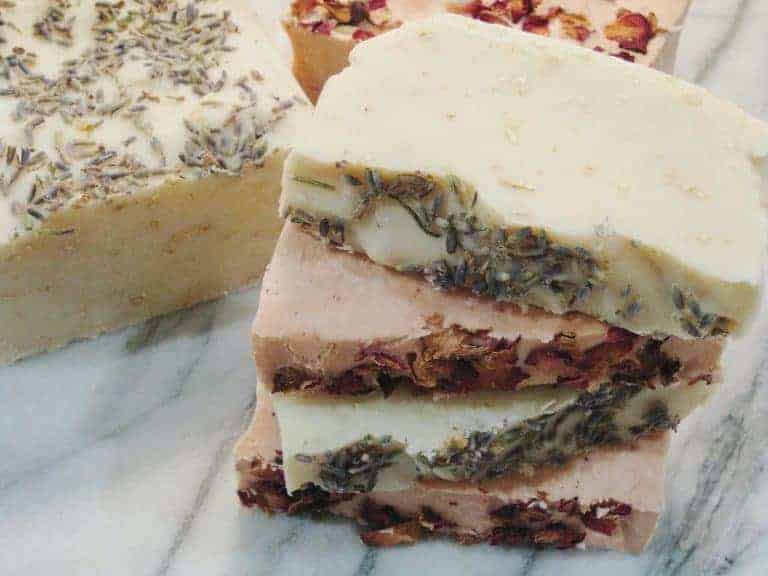 how to make natural soap - slice the cured soap