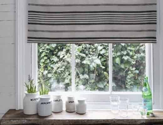 how to make interlined roman blind