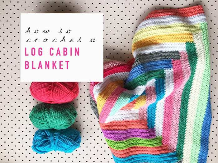 how to crochet a log cabin blanket