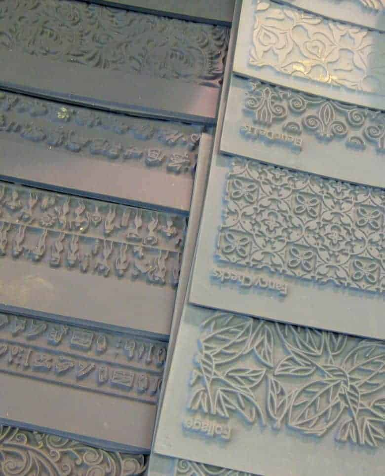 silver clay jewellery making textured mats
