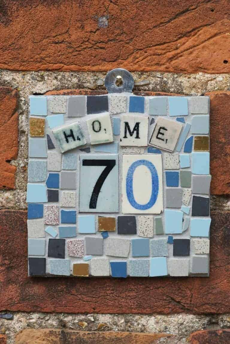make a mosaic sign