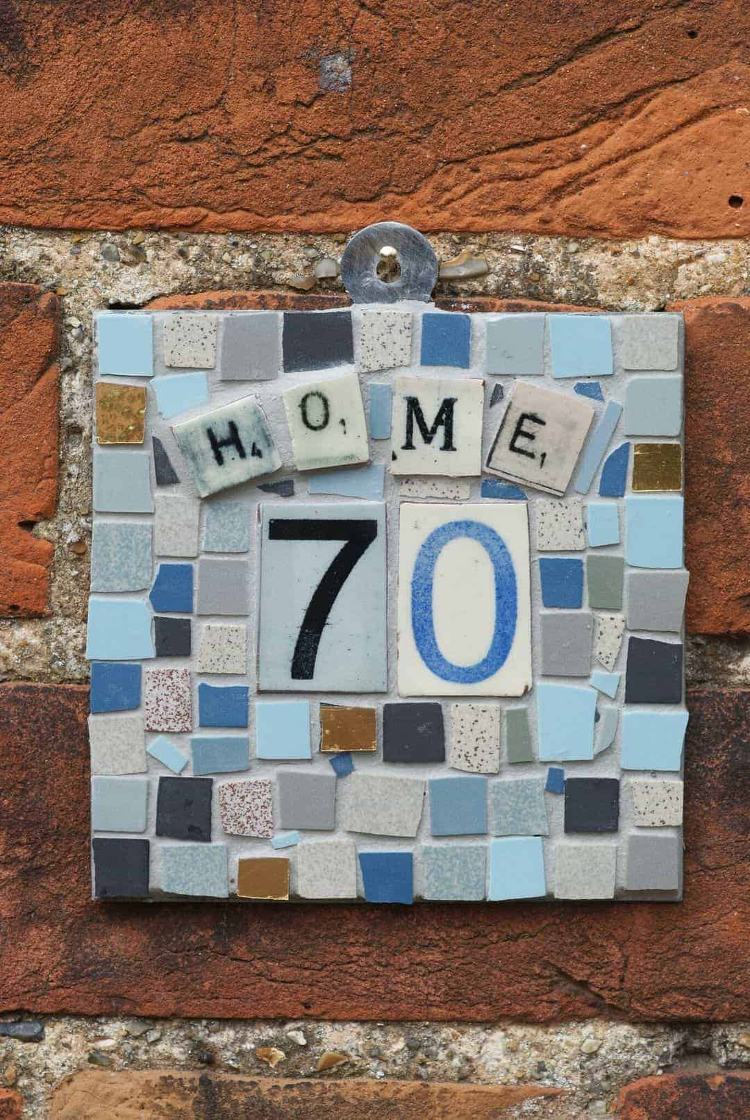 how to make a mosaic sign