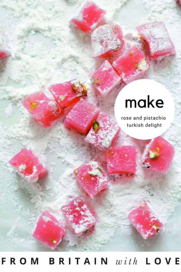 how to make rose and pistachio turkish delight 2