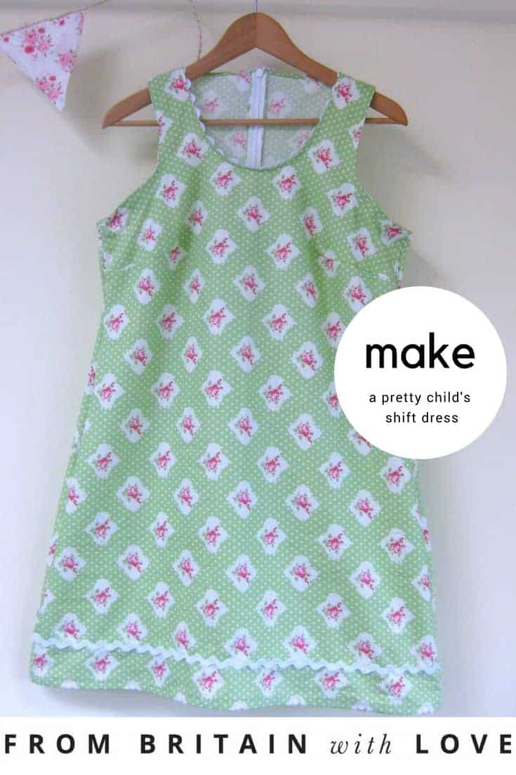 how to make a pretty child's shift dress for a little girl. Click through for easy step by steps