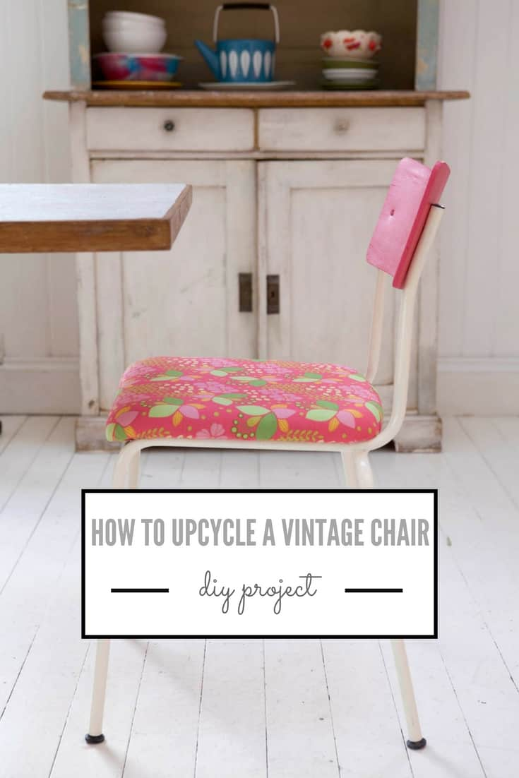 how to upcycle a vintage chair