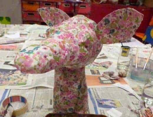 make a papier mache deer head
