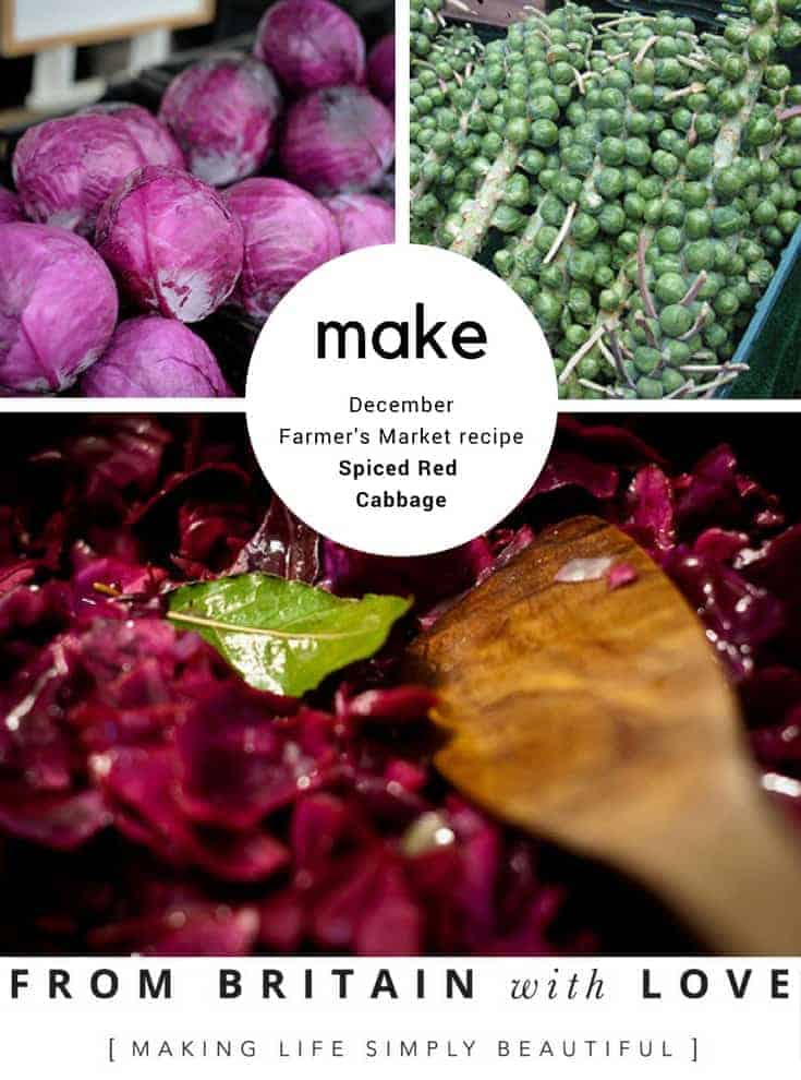 how to make spiced red cabbage for christmas by mary gwynn december farmers market