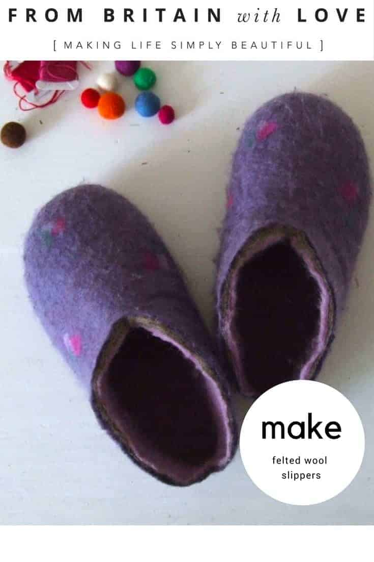 make felted wool slippers