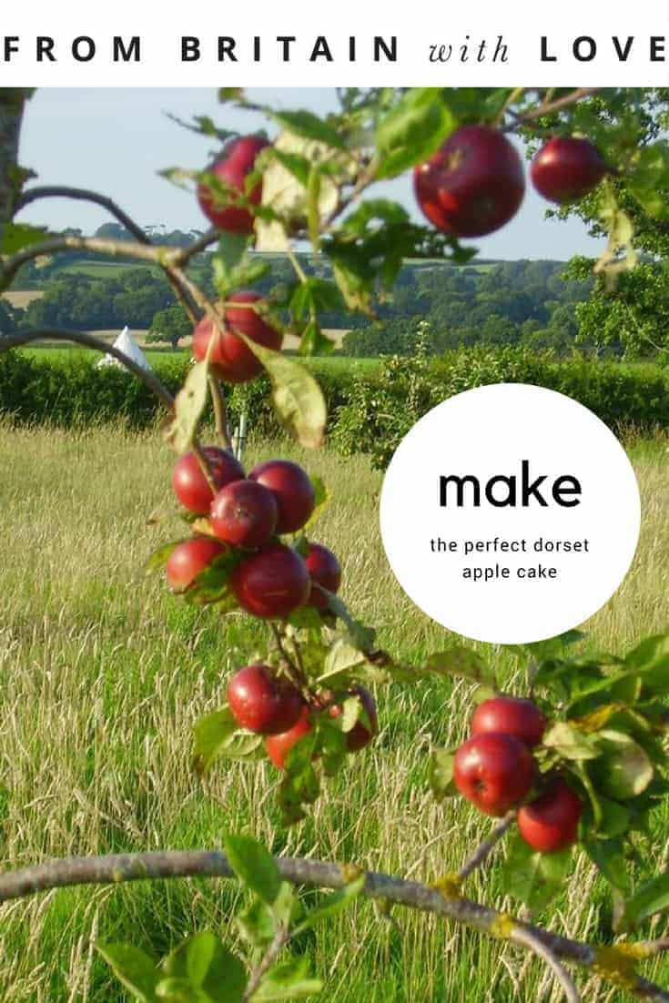 we share the perfect authentic dorset apple cake recipe by Sue Michel of Old Bidlake Farm near Bridport. She grows her own apples, uses eggs from her own hens and gives these delicious mini makes to guests at her blissful belll tent campsite in rural Dorset #dorsetapplecake #applecake #recipe #frombritainwithlove