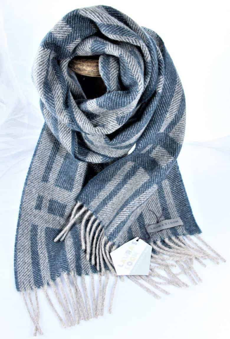 cumbrian wool summer scarf by laura's loom - perfect handmade mother's day gift made in britain