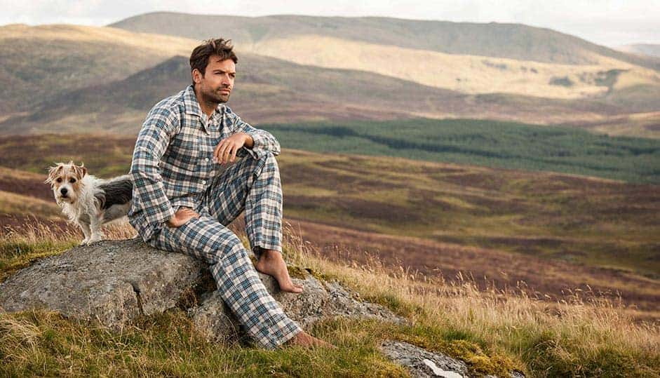 love these organic cotton men's pyjamas made in britain by PJ Pan