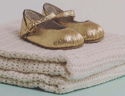 love these handmade gold children's shoes for little girls by The Little Shoemaker