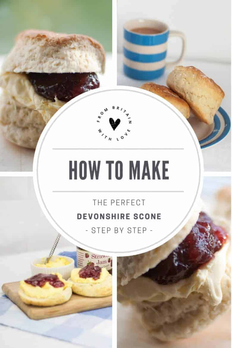 how to make the perfect traditional devonshire scone english cream tea with jam and cream. Click through for easy step by step recipe and expert tips to create the best afternoon tea ever - it's so easy and totally delicious. The only question is... do you go butter, jam cream or cream then jam? #scone #recipe #afternoontea #devon #clottedcream #englishcreamtea #frombritainwithlove