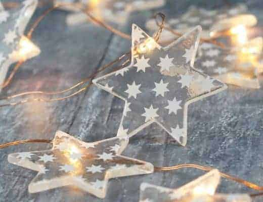 glass star christmas decorations