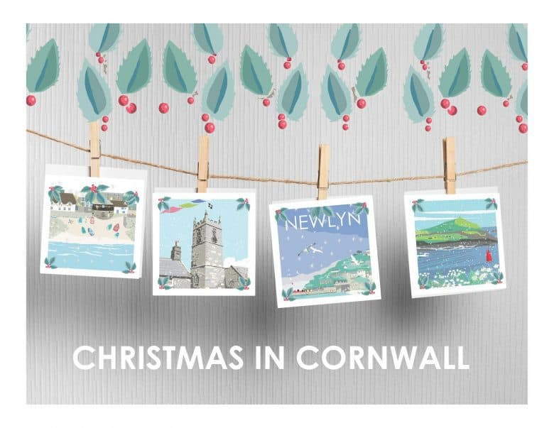 love these christmas in cornwall christmas cards by betty boyns perfect for anyone who yearns to be beside the seaside #handmade #christmas #cards #etsyuk