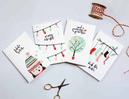 love these jolly typographic and scandi inspired christmas cards by The Lovely Drawer