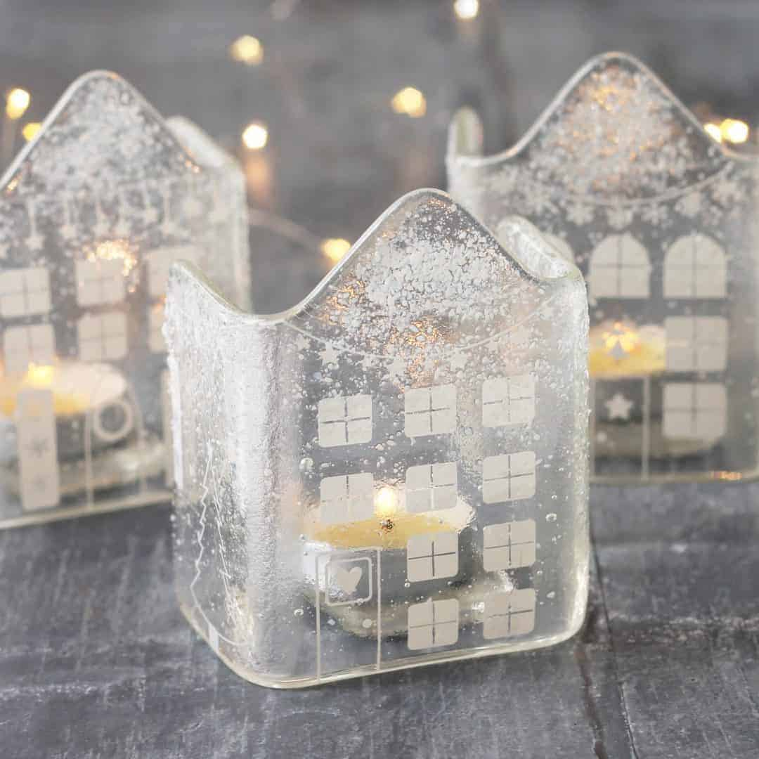love this handmade frosted glass dutch house christmas decoration by red brick glass