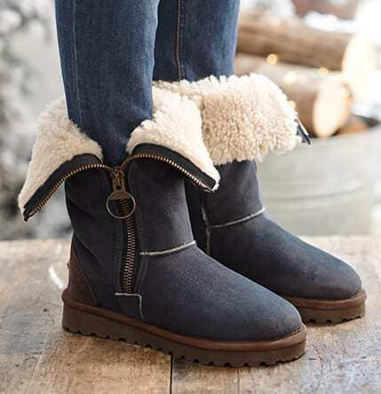 love these sheepskin aviator boots by Celtic and Co