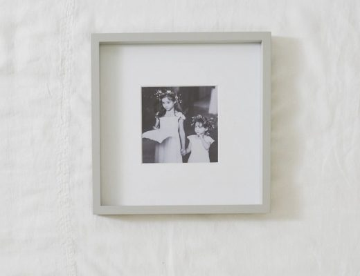 pale grey wood photo picture frame the white company