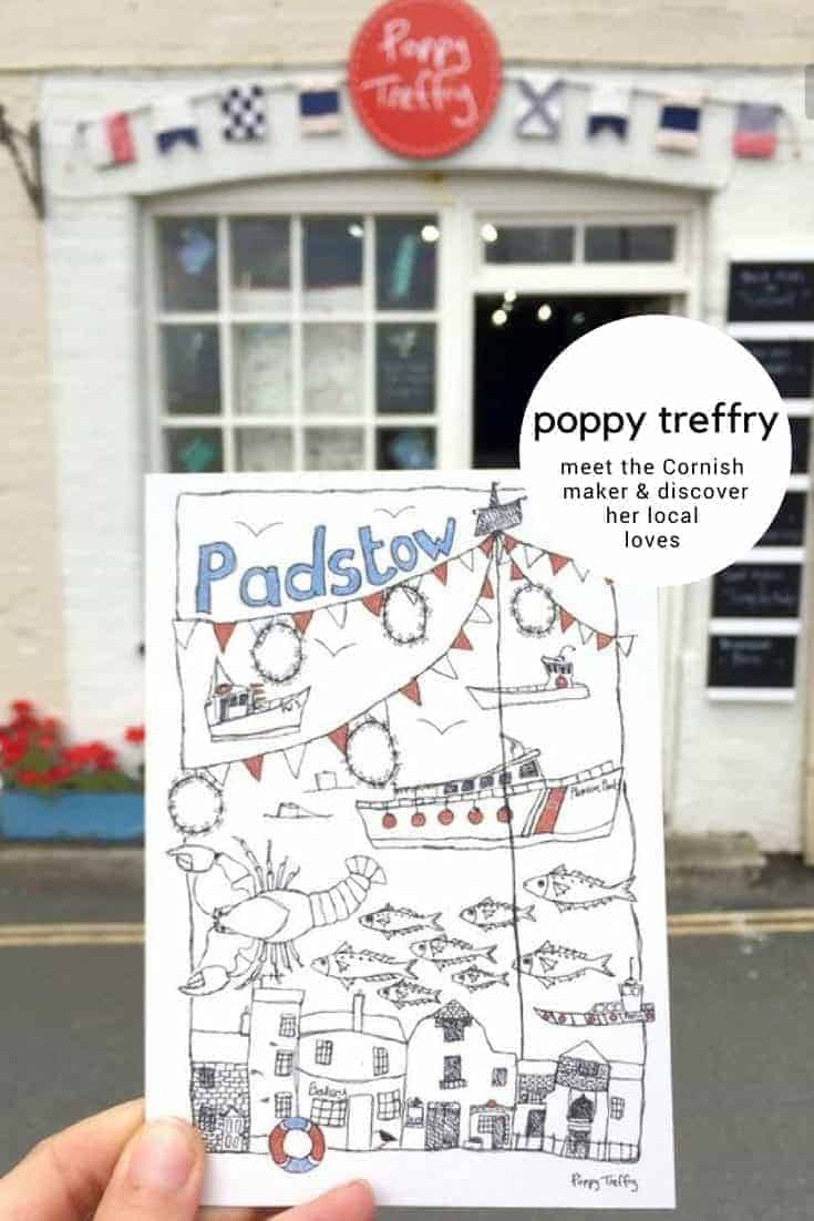 meet poppy treffry and discover her love of Padstow and Cornwall. Poppy shares her local loves and inspiration for her creative freehand embroidery business