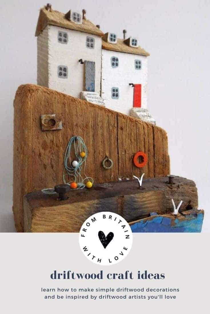 driftwood craft ideas you'll love - from simple driftwood decorations to make in a morning to inspiring ideas from driftwood artists you're sure to love, click through for all you need to get creating with your beach finds