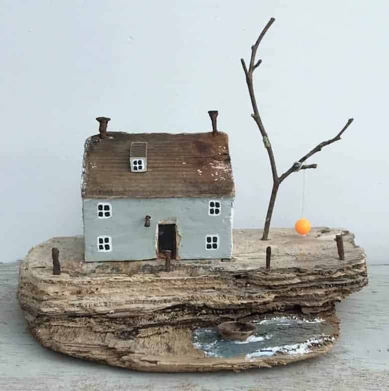 driftwood seaside cottage kirsty elson click through for all the links you need to buy driftwood art or to learn how to make driftwood craft decorations with your own beach finds #driftwood #art #beachcombing #art