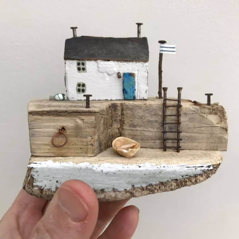 click through to find out all you need to know about driftwood crafts with great ideas for driftwood houses, boats, decorations and more to try at home