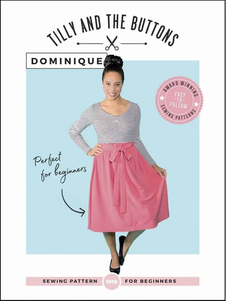 tilly and the buttons dominique easy skirt sewing pattern