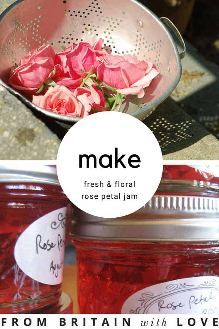 how to make fresh rose petal jam