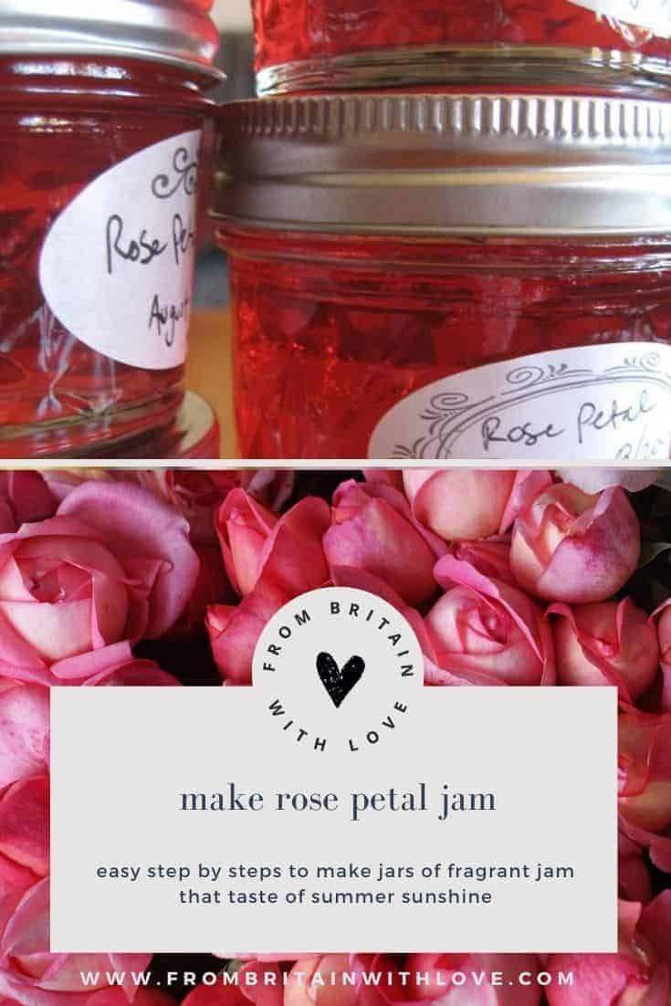 make rose petal jam - step by steps and recipe to create rose petal jam or jelly #rose #petal #jam #jellt #frombritainwithlove #recipe