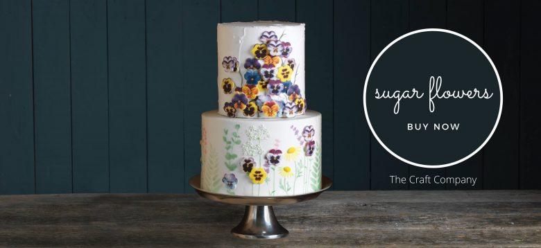 sugar flowers pansies cake decorations