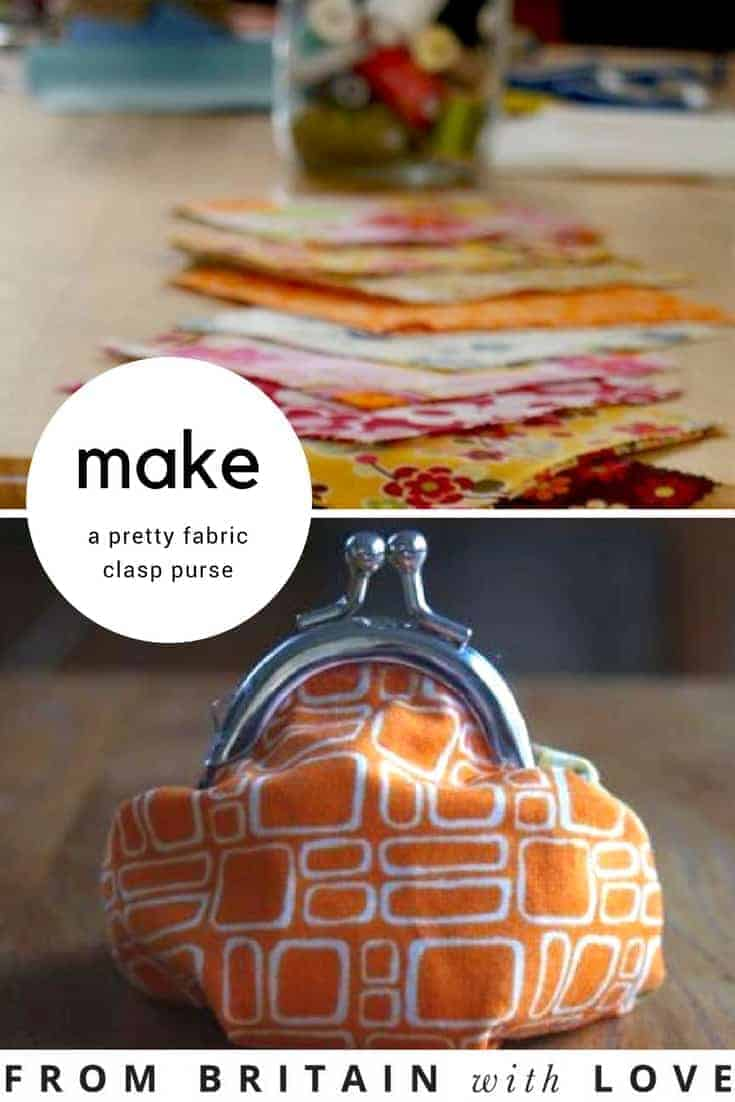 how to make a pretty fabric clasp purse