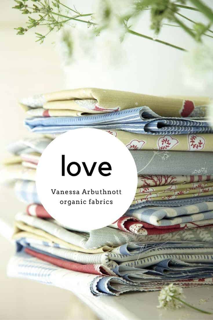 discover beautiful organic fabrics made in England by Vanessa Arbuthnott