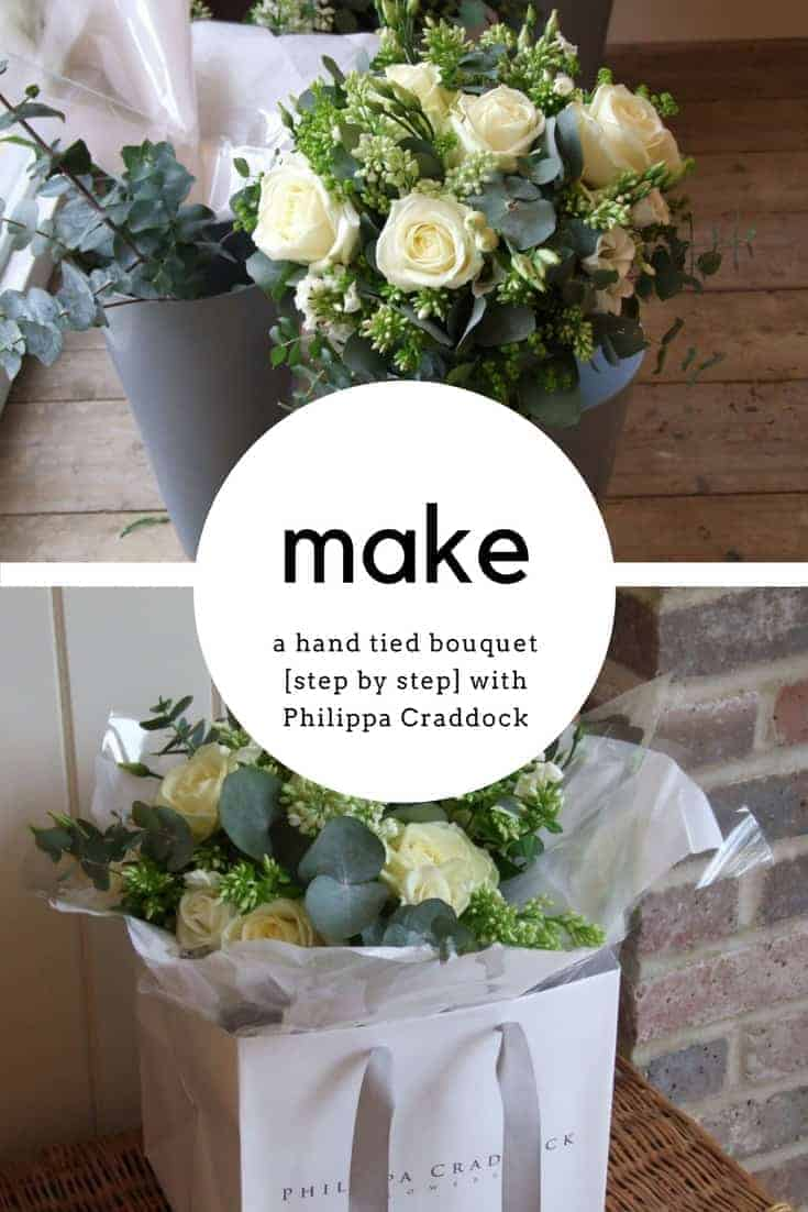 how to make a beautiful hand tied bouquet with philippa craddock flower school. Click through for easy step by steps so you can create your own stunning arrangements