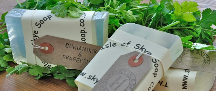 skye soap coriander and grapefruit