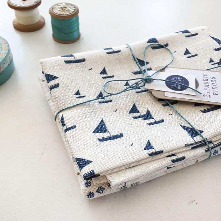 love this little blue boat printed linen by Charlotte Macey. Click through to see Charlotte's whole beautiful collection of gifts and homeware