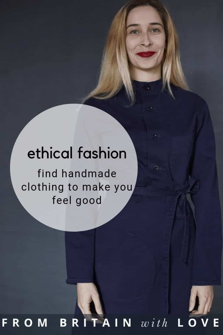 love this dark navy blue utility tie waist skirt and button up utility shirt handmade in England by Old Town clothing. click through to get all the details you need to connect with OId Town Clothing and to see their simple, chic collection of sustainable fashion ethical clothing and handmade essentials made to last and to make you feel good #ethicalfashion #sustainablefashion #madeinbritain #frombritainwithlove #oldtown #navyblue #utilitywear #overalls #workwear