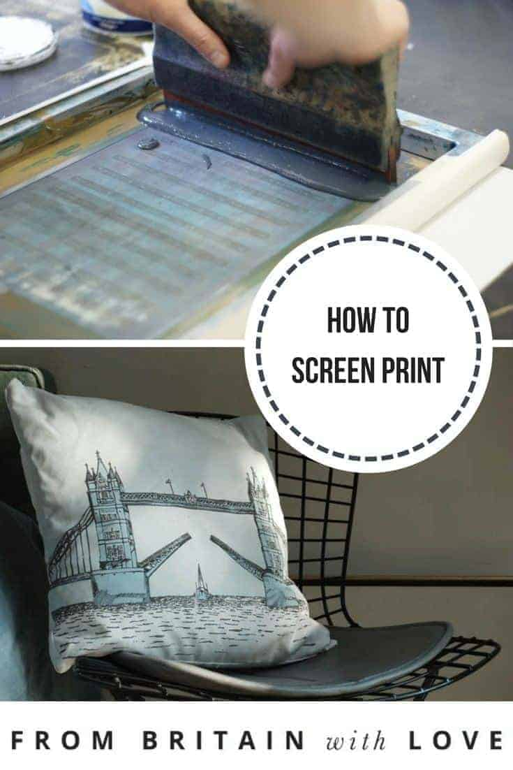 how to screen print. Click through for easy tricks of the trade from Mr Wingate, London and start creating your own screen print designs