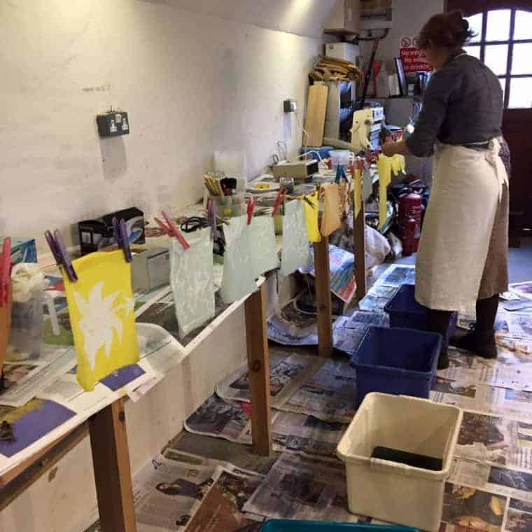 The Old Kennels print making courses
