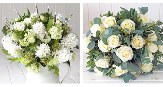 White Hand Tied Bouquets