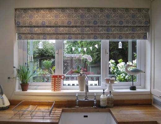How to make an interlined roman blind from britain with love for Roman blinds for large windows