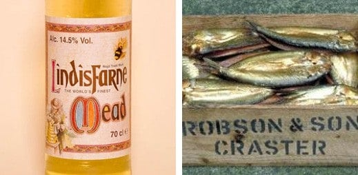 Lindisfarne Mead and Craster Kippers