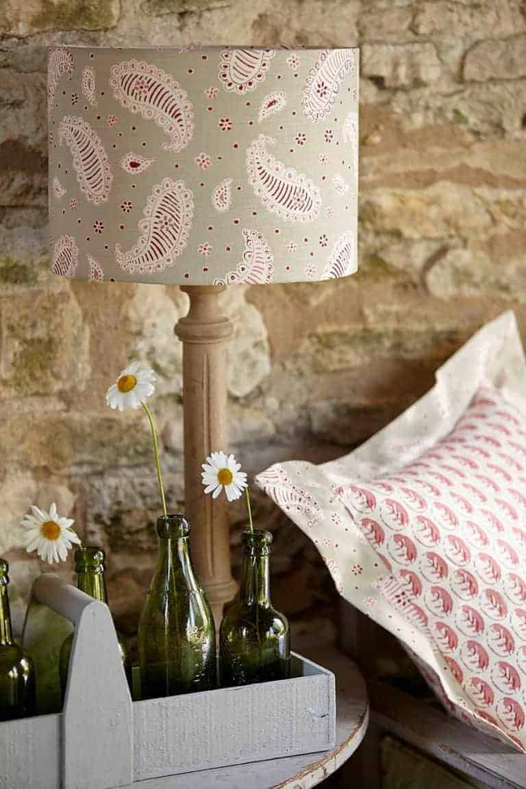 love this paisley linen lampshade by vanessa arbuthnott