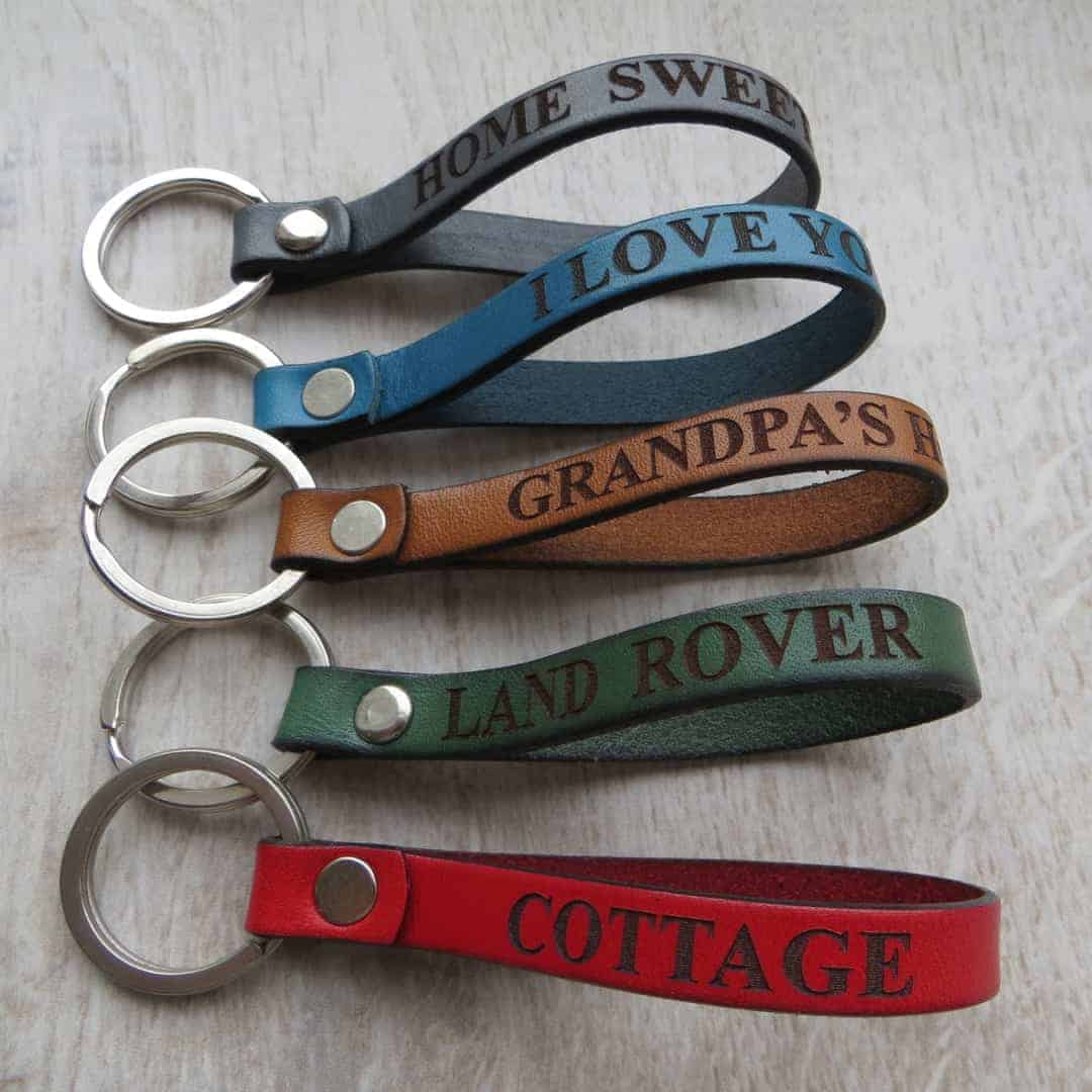 Gracie Collins personalised leather keyring