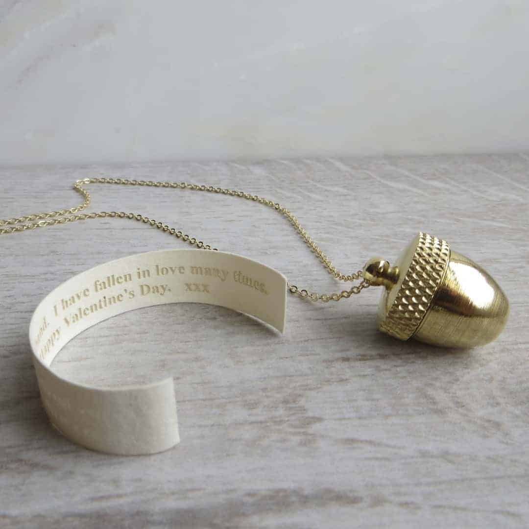 gracie collins message acorn locket