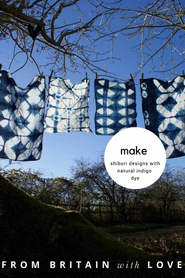 Love shibori indigo dye patterns. Click through to discover how easy it is to create your own beautiful designs using natural indigo with expert Flora Arbuthnott